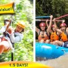 Whitewater Rafting and Canopy Zip Line Package