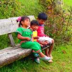 indigenous children, boquete, panama