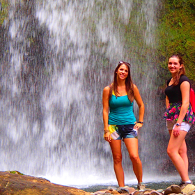 waterfall, hike, zip line, boquete, panama, vacation
