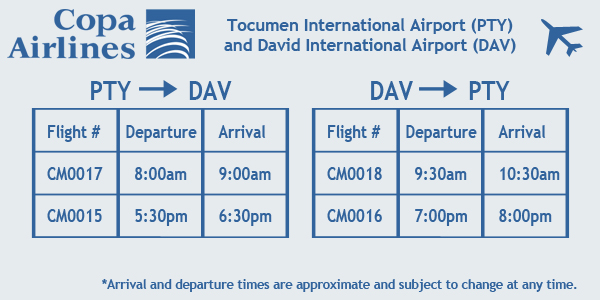 Copa Airlines Flight Schedule Panama