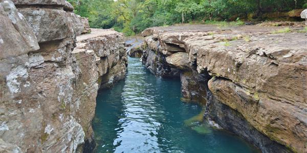 Los Cangilones Mini-Canyon, boquete, aqua adventure, caldera