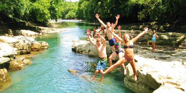 Los Cangilones Mini-Canyon, hot springs, panama, boquete