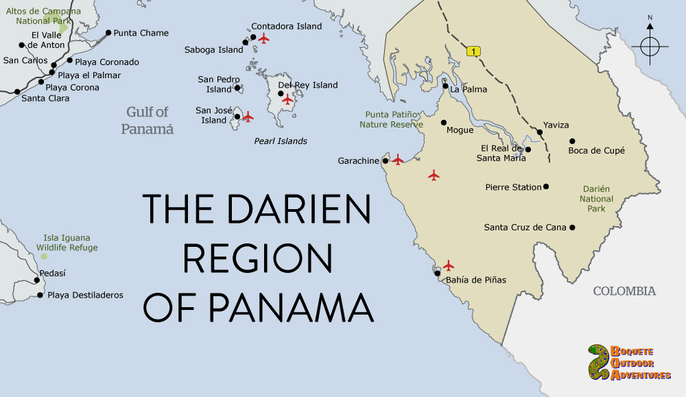 map panama darien region