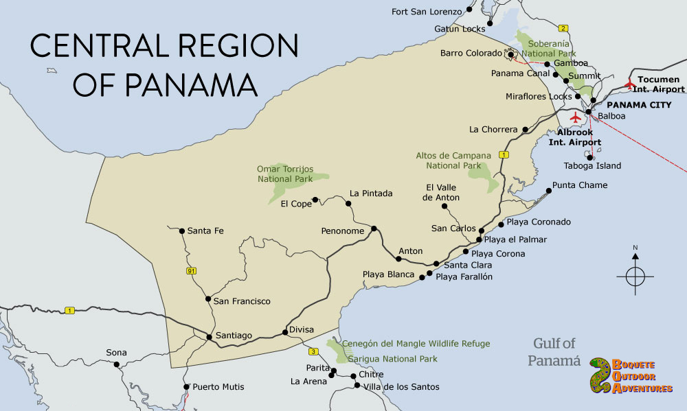 map panama central panama valle de anton