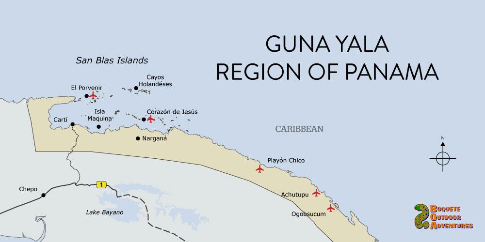 map san blas kuna yala guna yala panama
