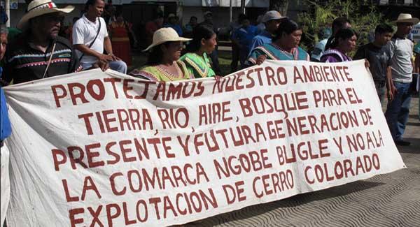 Panama development protest, protest ngobe bugle,