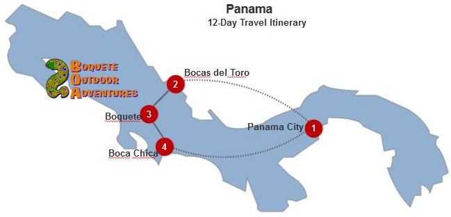 Panama 12-Day Itinerary BOA, 12 day travel itinerary, 12 day tour, 2 weeks in panama, week tour, panama tours, travel package, boquete travel