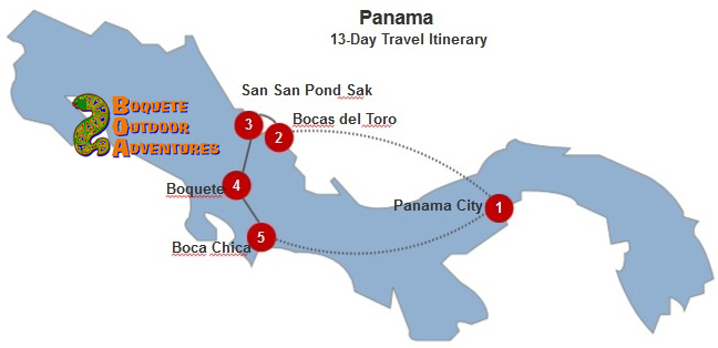Panama 13-Day Itinerary BOA, 13 day travel itinerary, 2 weeks in panama, week tour, panama tours, travel package, boquete travel