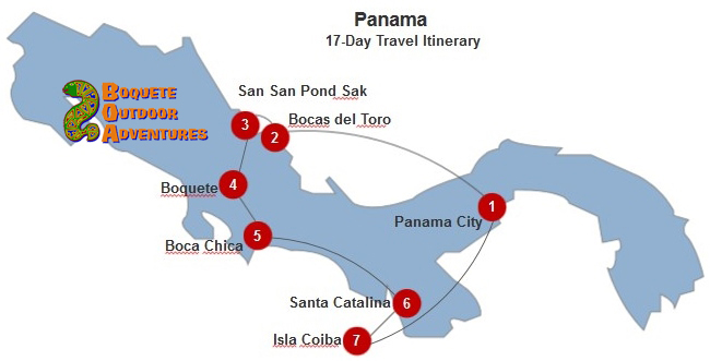 Panama 17-Day Itinerary BOA, 2 week travel itinerary, 7 day tour, week tour, panama tours, travel package, boquete travel
