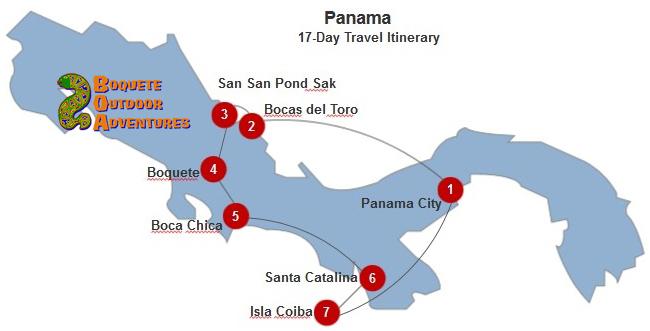 Panama 17-Day Itinerary BOA, 2 week travel itinerary, 7 day tour, week tour, panama tours, travel package, boquete travel