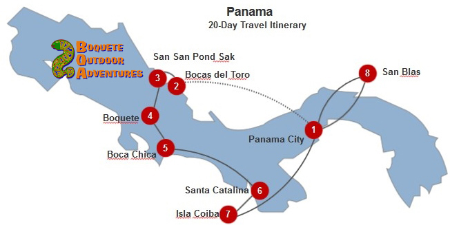 Panama 20-Day Itinerary BOA, 3 weeks in panama, 3 week travel itinerary, 7 day tour, week tour, panama tours, travel package, boquete travel